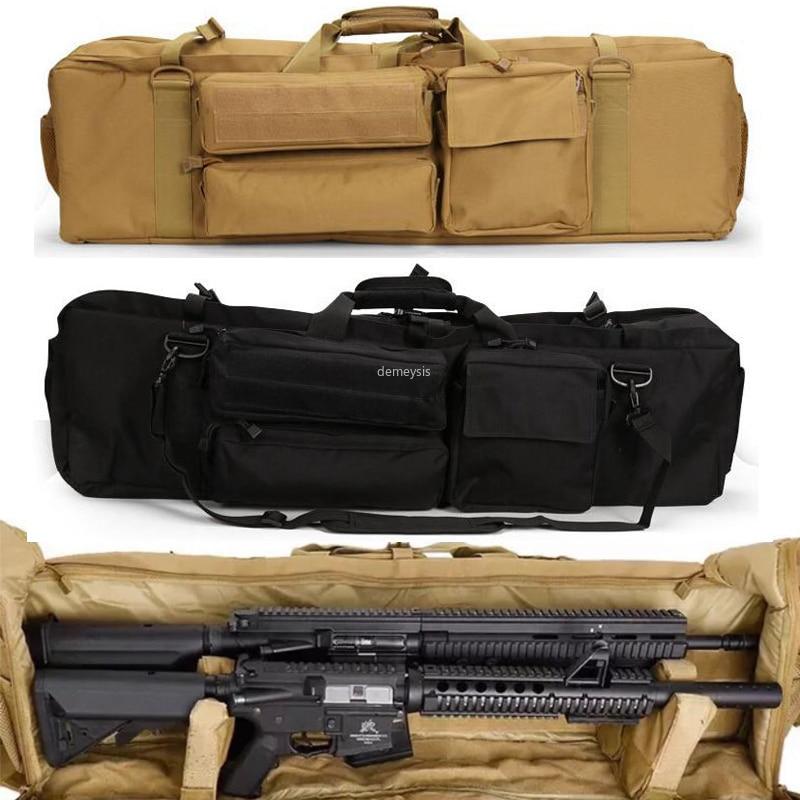 Taktische Pistole Rucksack Armee Doppel Gewehr Taschen Airsoft Military Dual Carbine Tragetasche für SAH M249 M4A1 M16 AR15