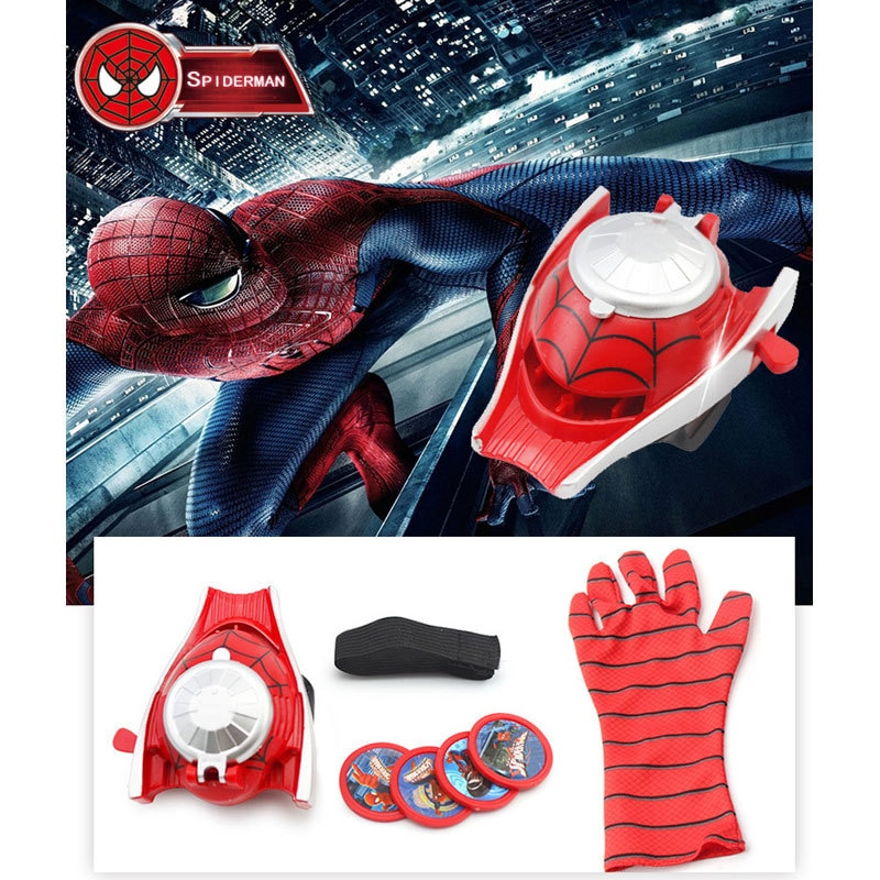 Marvel Captain America Launcher Gloves Spider-Man Hulk Iron Man Children's Gift Card Shooting Toy toy gun  - buy with discount