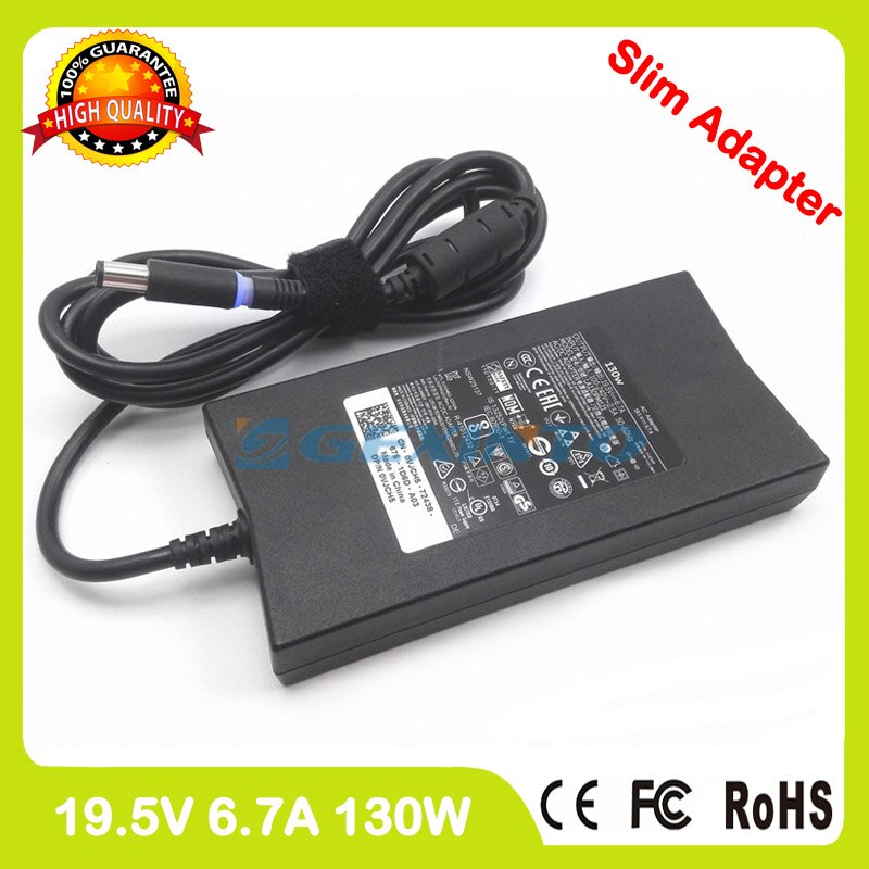 Adaptador de corriente ac 19,5 V 6.7A 130W cargador del ordenador portátil para Dell Latitude 14 5490 5491 15 5590 precisión 5591 15 3510 3520 P72G002 P11F