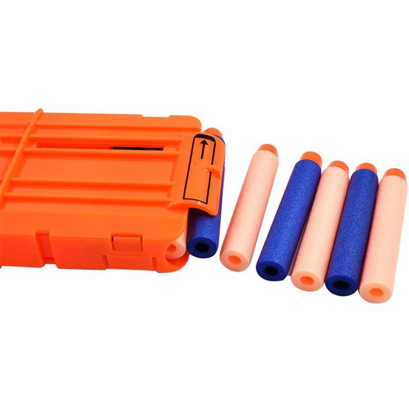 12 Оранжевый зажимы для мягких пуль для оружия Nerf клип перезагрузить клип для Nerf журнал круглый Дартс бластер пистолет пули клип игрушечный ...