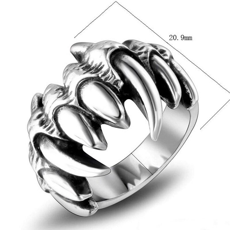 2020 gótico anel de aço inoxidável do crânio dos homens anel para jóias biker sygnet fuma presentes masculino homem jóias lotes mistura do punk stly