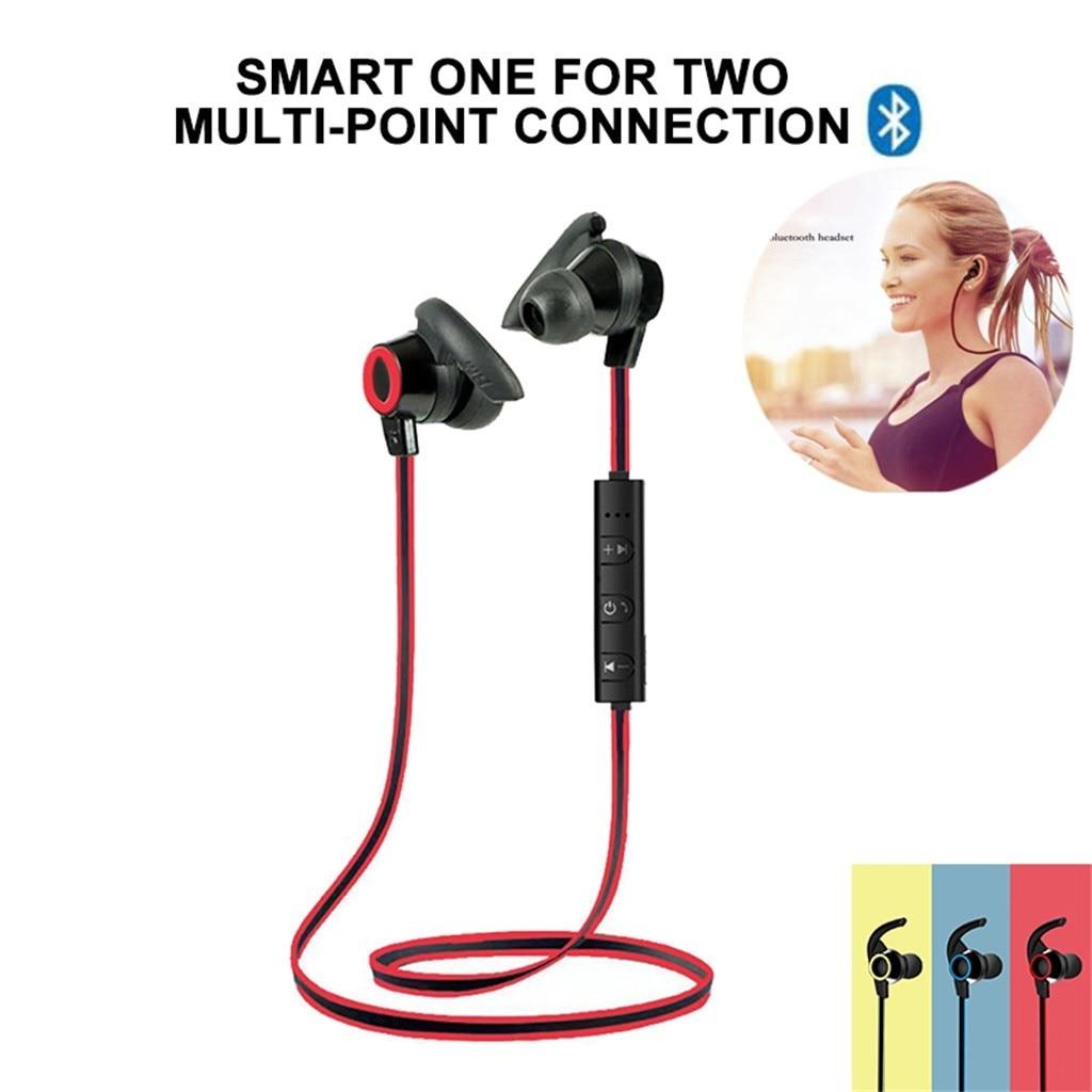 Fones de ouvido sem fio bluetooth 4.1 esportes neckband fones estéreo música metal fones de ouvido bluetooth com microfone