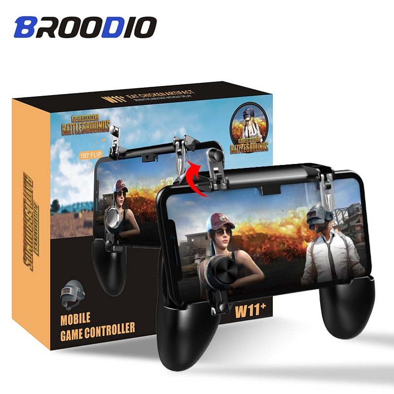 For PUBG Moible phone Controller Gamepad Free Fire L1R1 Triggers Mobile Joystick For samsung huawei