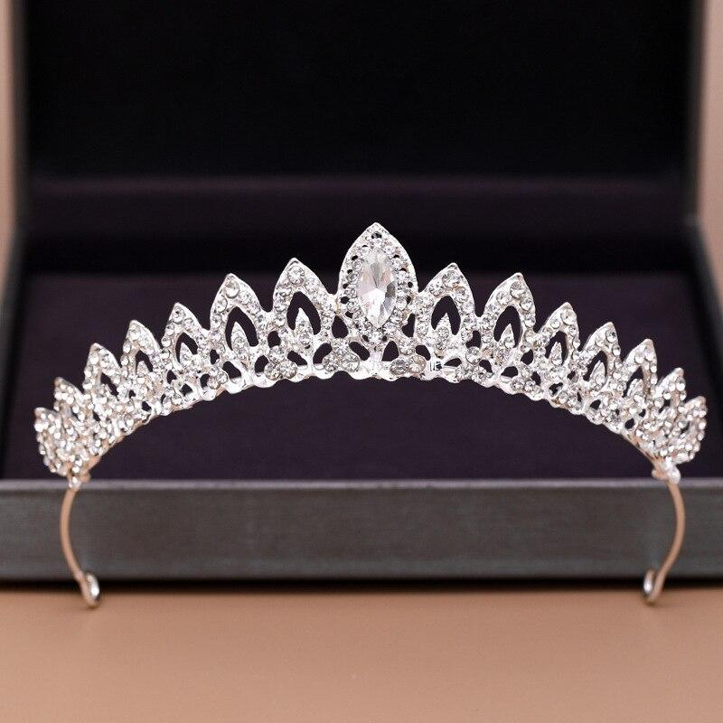 Bridal Crown Alloy Inlaid Rhinestone Crown Bridal Headband Bridesmaid Hair Accessories Dress Headdre
