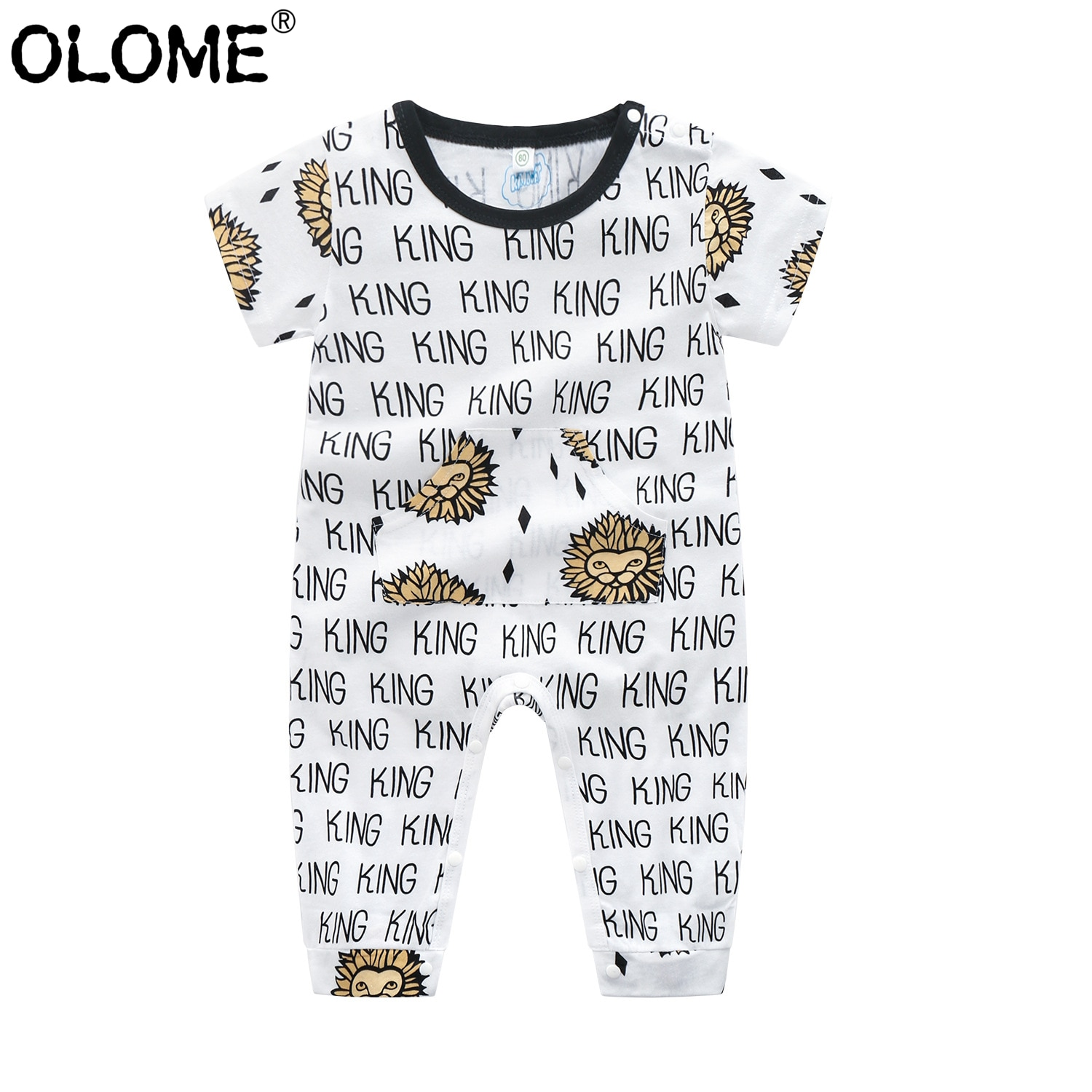 2020 new baby girls cotton romper sling robe and boys print jumpsuit for newborn children kids summer clothes OLOME Summer Infant Baby Onesie Cotton Newborn Romper Cute Toddler One-piece Clothes Baby Boys and Girls Jumpsuit Kids Clothing