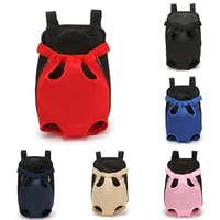 pet carrying travel adjustable breathable fashion easy fit dog backpack front puppy dog carrier dog bag legs out high quality