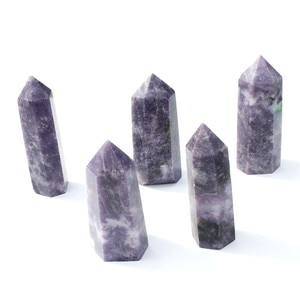 1 Kg natural purple mica crystal towers for home decoration