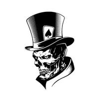 car sticker skull solitaire poker monster hat waterproof scratch body sticker suitable for body car door pvc 17cm11cm