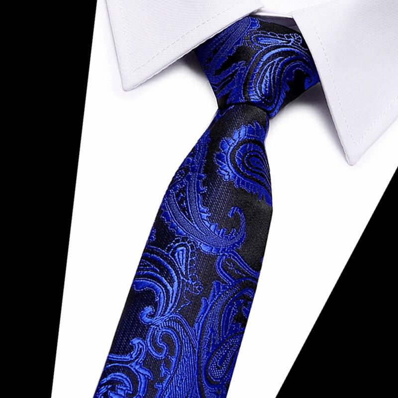 Галстук в полоску и Пейсли из полиэстера и шелка, 7 см, узкие галстуки, свадебные деловые галстуки для мужчин, подарок