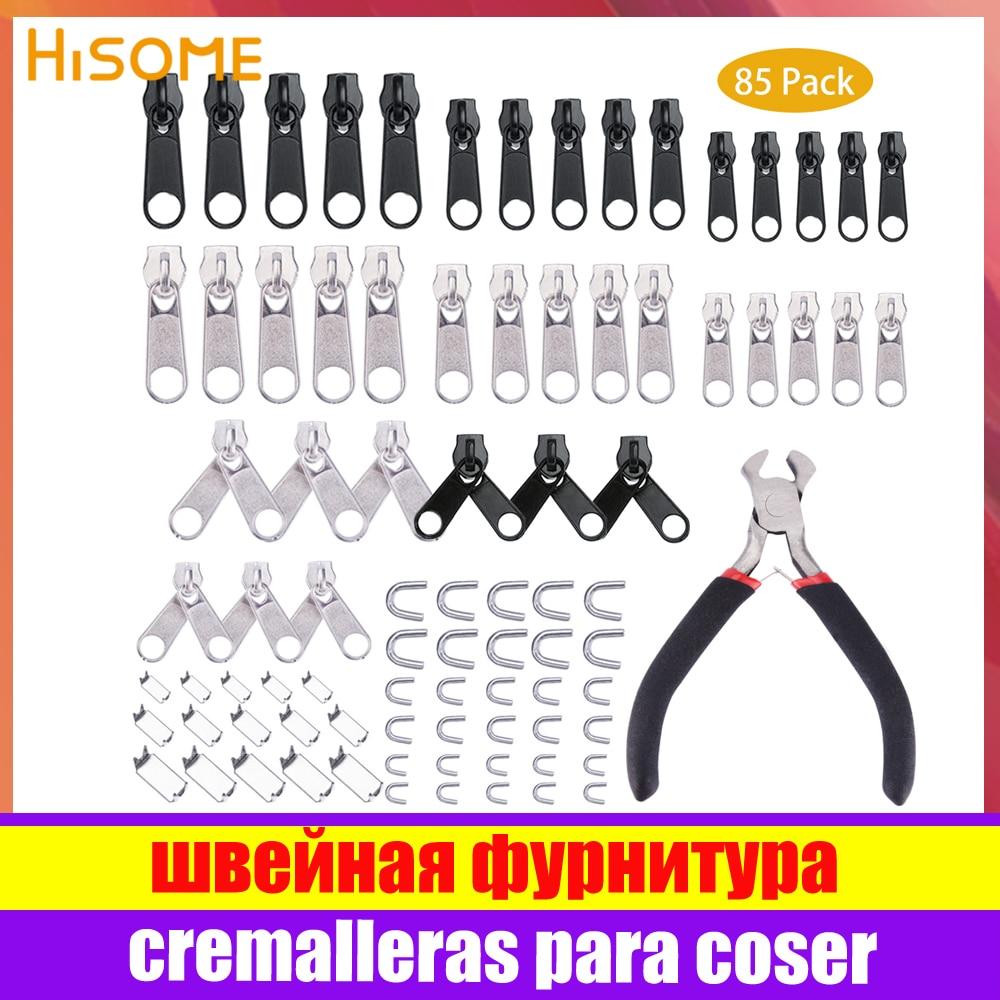 Zipper Reparatur Kit Zip Slider Rettungs Universal Reißverschlüsse Ersatz Jacke Kleidung Tasche Zelt Fix Zange Nähen Hand Werkzeug 5 #8 #