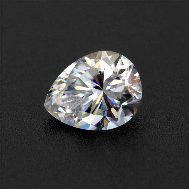 DVVS white Color Pear Cut moissanites diamond 1ct-6ct 1pcs moissanites for making rings