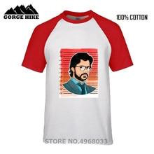Crime TV series La Casa De Papel T-shirts Homme Teacher El Profesor Top Print Craft No Fade Men T shirt Dali Mask Robbery Tshirt