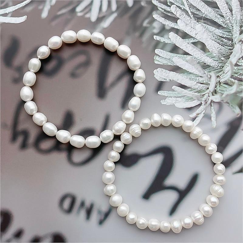 Handmade Freshwater Pearl Bracelets for Women Fashion Elegant Beaded Bracelet Engagement Party Wedding Jewelry Birthday Gifts