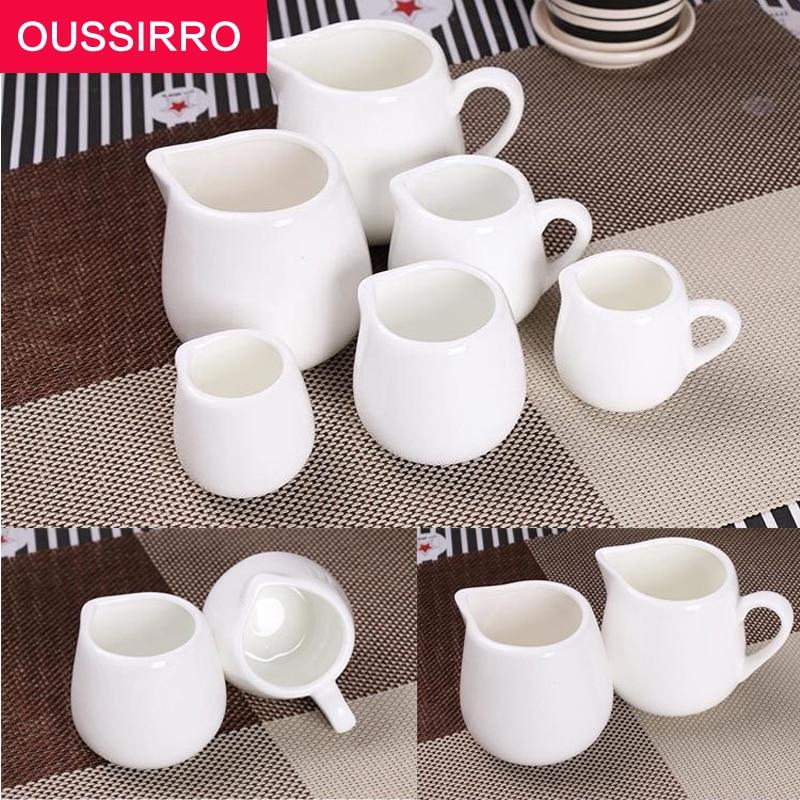 1 Uds suministros de Hotel taza de té de cerámica blanca pura sin leche cubeta de salsa taza de té para oficina taza de beber juego de té de viaje botella de café blanca