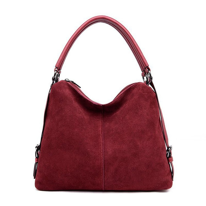 2021 جديد إمرأة حقيقي جلد الغزال حقيبة هوبو تصميم جديد الإناث الترفيه حقائب كتف كبيرة التسوق حقيبة يد كاجوال كيس محفظة