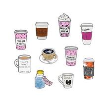 ¡Taza de colección! I Need My Space Cup esmalte Pin taza de café dibujos animados helado deseo insignia de botella Denim Shirt Lapel Pin joyería