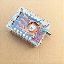 TDA7498E 160W * 2 고출력 전력 디지털 앰프 보드 듀얼 채널 오디오 스테레오 앰프 지원 BTL 모드 모듈 (케이스 포함)