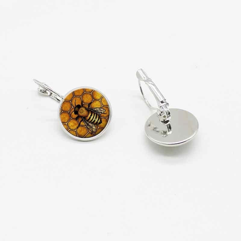 Pendientes de cristal creativos clásicos de la abeja de la manera del gancho de oreja joyería de las señoras