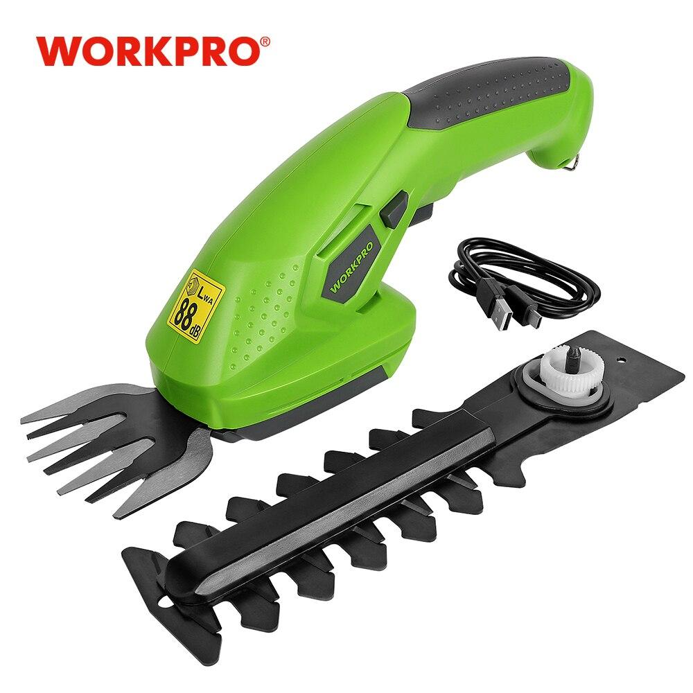 Электрический Резак для травы WORKPRO 3,6 В, беспроводной садовый инструмент 2-в-1, литий-ионная перезаряжаемая батарея, для живой изгороди   Инструменты   АлиЭкспресс