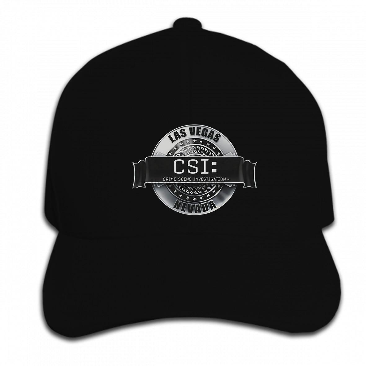 Imprimir gorra de béisbol personalizada Hip Hop CSI TV Show Las Vegas Nevada renderizado logotipo autorizado sombrero gorra pico