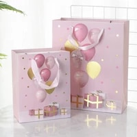 1 pack of 12 single pieces happy birthday balloons boxes printed with hotstamping paper gifts holding bags gifts shopping bags