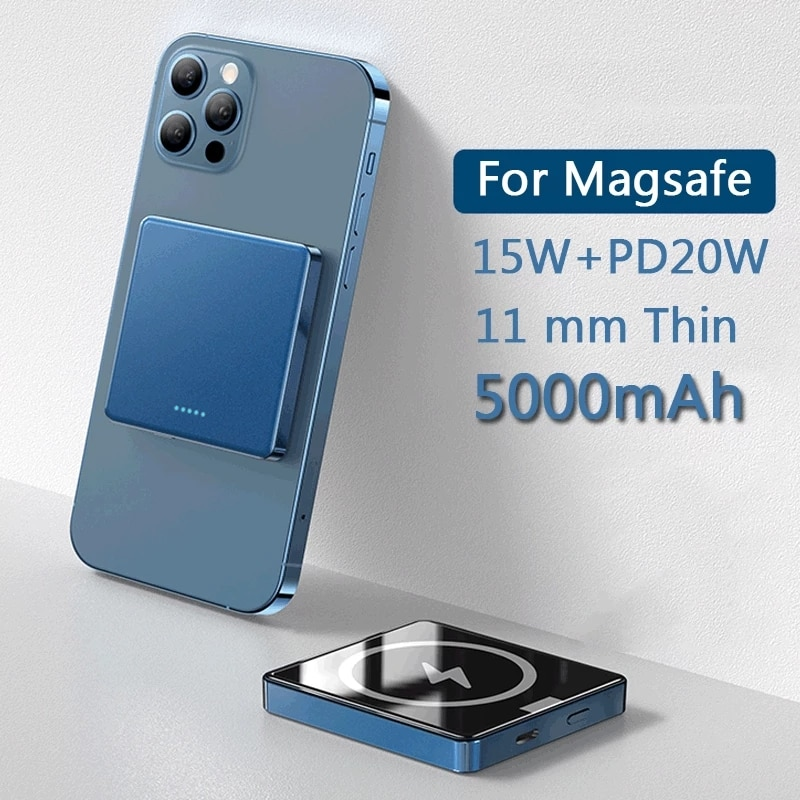 10000mAh Magnetic Wireless 15W Fast charging powerbank For Magsafe Power Bank Charger For iphone 12 Magnet Mobile Phone Battery