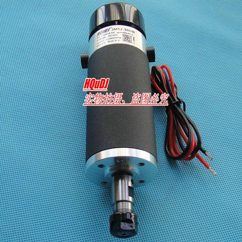 External Carbon Brush Grinding ER11 48V 500W Brush High Speed Air Cooled Spindle Motor Engraving Machine PCB Spindle