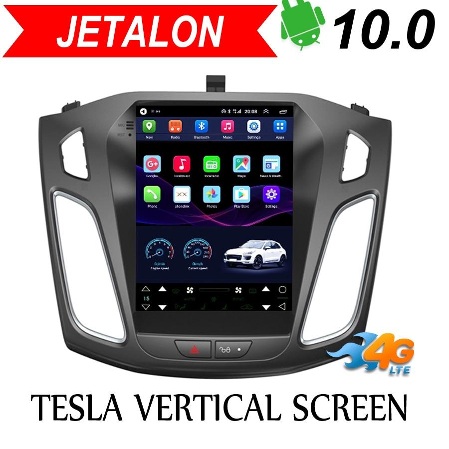 Navegación inteligente para coche Jetalon, red 4G para Ford Focus 2012-2017, estéreo, Android, GPS para coche, radio Vertical, imagen reversible, todo en uno