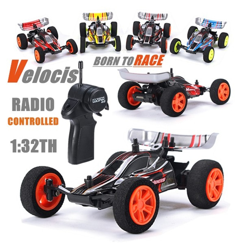 Velocis 1/32 2.4G RC Racing Car Mutiplayer in Parallel 4 Channel Operate USB Charging Edition RC Formula Car