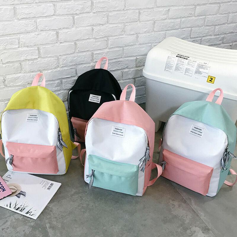 Women Girls Shoulder School Bag Laptop Backpack Travel Outdoor Satchel Rucksack Ladies Patchwork Backpacks