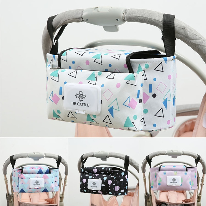 Diaper Bag For Baby Stuff Nappy Bag Stroller Organizer Baby Bag For Mom Large Travel Hanging Carriage Pram Buggy Cart Bottle Bag