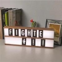 Boite a lumiere LED avec lettres blanches  bricolage  combinaison de lettres blanches  veilleuse Portable alimentee par piles AA