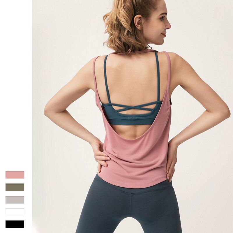 Camiseta deportiva de dos en uno para Mujer, Camiseta transpirable informal de...