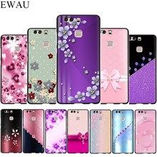 Cristal strass fleur impression Silicone étui de téléphone pour Huawei P8 P9 P10 P20 P30 Lite Mini Pro P Smart Z Plus