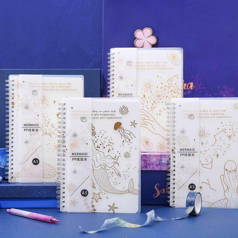 2020 planificador sirena A5 cuaderno espiral tiempo Memo planificación organizador de agendas escuela Oficina horario Papelería para niñas regalos