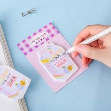 Creatieve Leuke Regenboog Fudge Post-it Notes Voor Meisjes Draagbare Aardbei N Keer Sticker Collage Zout Memo Pad