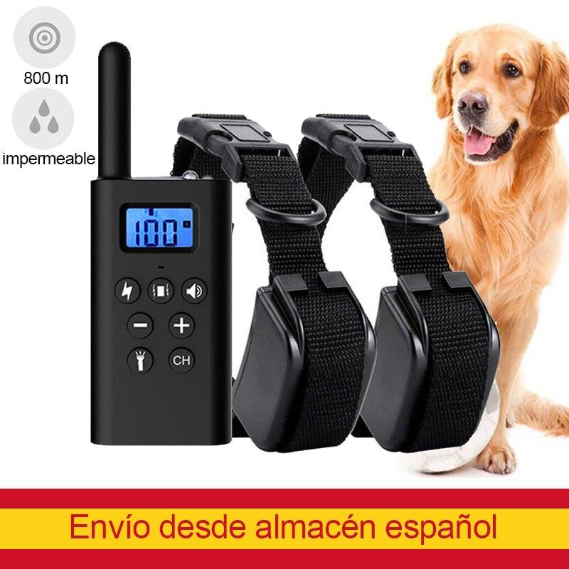 Collar de adiestramiento para perros, accesorios para mascotas, resistente al agua, pantalla...