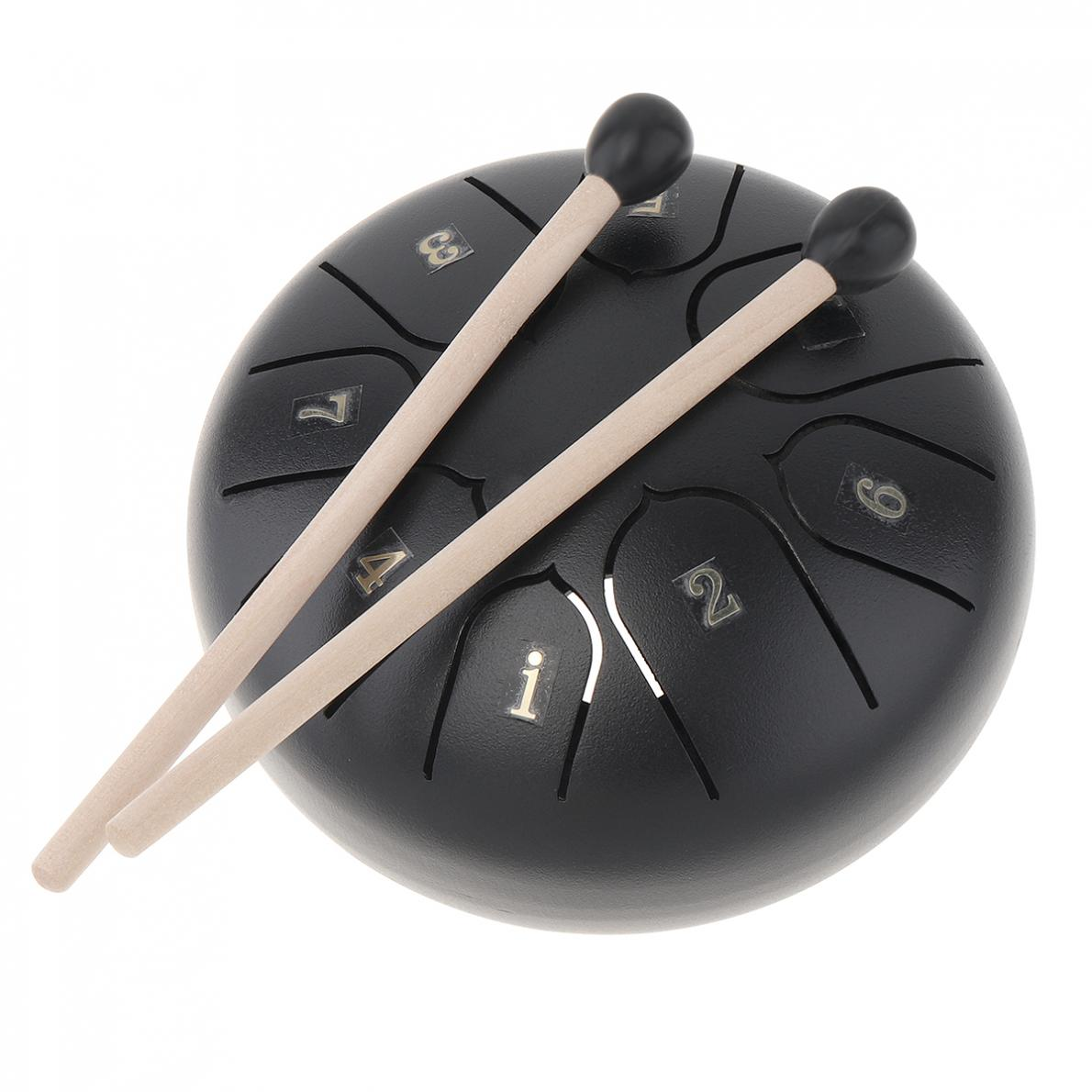 Tongue Drum  5 Inch Steel Tongue Drum Set 8 Tune Hand Pan Drum Pad Tank Sticks  Percussion Instruments Accessories enlarge