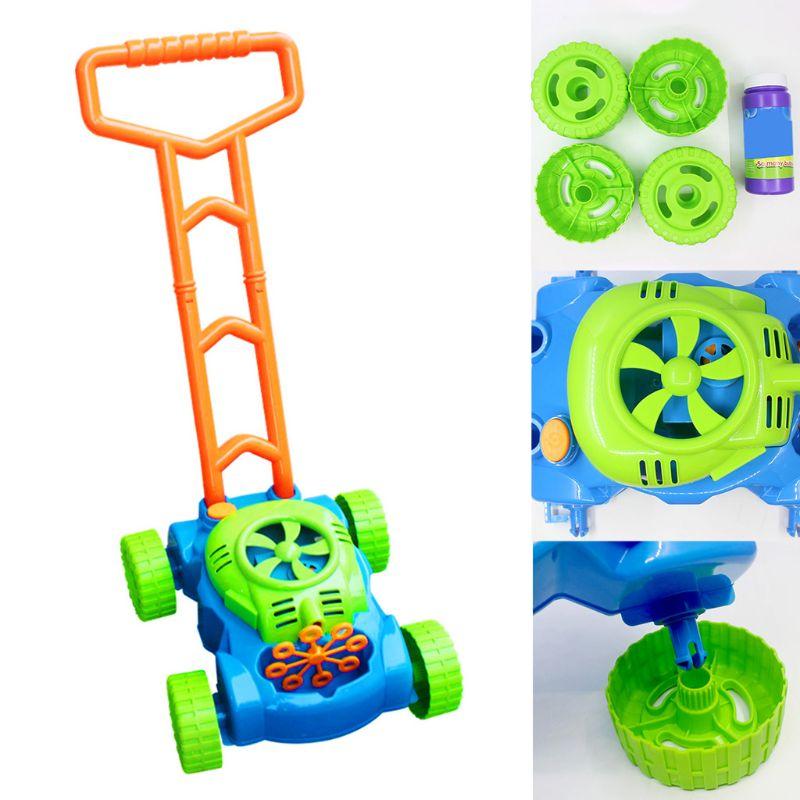 Автоматическая музыкальная тележка дуя машина пузыря игры для детей на открытом воздухе игрушка