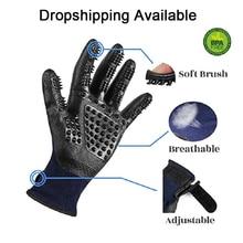 1 par de guantes de aseo para gatos, cepillo de masaje de goma suave para mascotas, cepillo de limpieza para animales