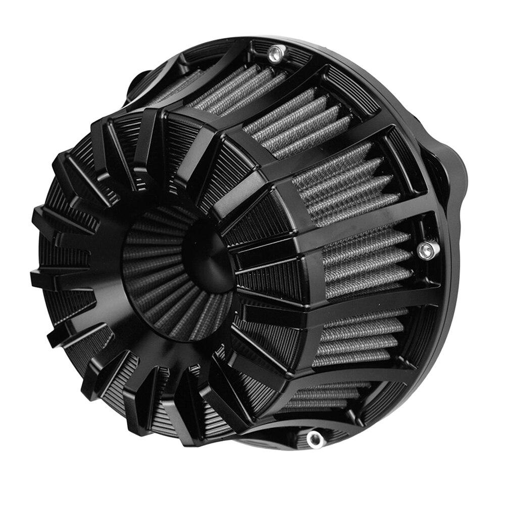 CNC artesanía de limpiador de aire filtro 10 invertida para Harley XL Sportster 883 Softail Dyna gira Gran Cámara gemela FLT puño FXDLS M8