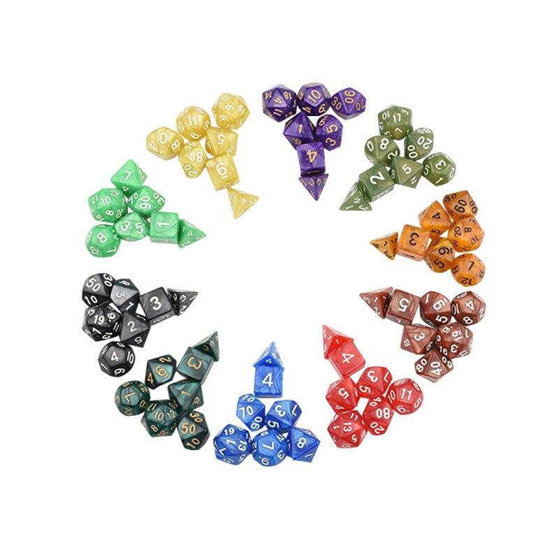 Jogo de dados D4-D20 multi face jogos de tabuleiro de loteria diques mesa polyhedral acrílico plástico brinquedo kit