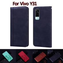 Flip Wallet Case For Vivo Y31 Cover Leather Book Funda On For Vivo Y 31 2021 Case Phone Protective S