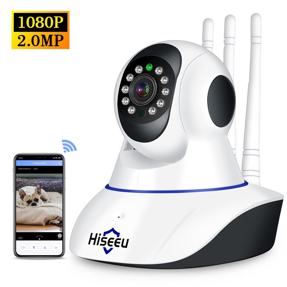 HISEEU IP كاميرا 1080P HD اللاسلكية واي فاي كاميرا 2MP اللاسلكية كاميرا مراقبة للمنزل ليلة نسخة P2P المنزل كاميرا تلفزيونات الدوائر المغلقة مراقبة الط...