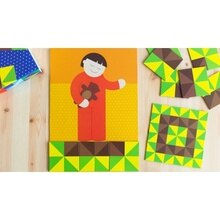 Mosaïque patchwork jeu