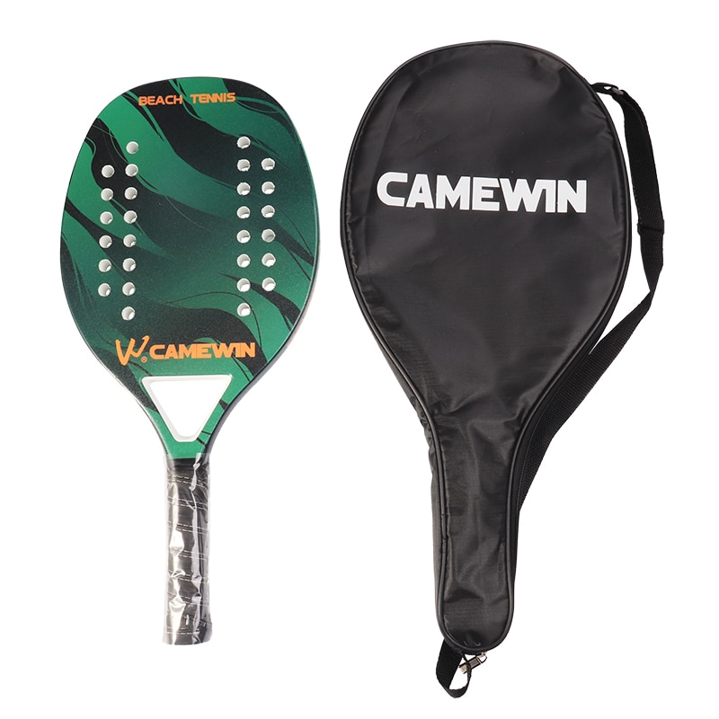 Tennis Padel Carbon Fiber Beach Padel Tennis Racket Soft EVA Face Paddle Tennis Racquet Rackets with Paddle Bag Cover with gift