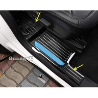 car stainless steel pedal door sill scuff plate cover inner built threshold panel 4pcs for ford explorer u625 2019 2020 2021