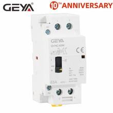 GEYA GYHC 2P 40A 63A 2NO OR 2NC Household Modular DIN Rail Mounting AC Contactor  AC220V 230V Manual Control