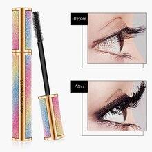 SENANA 4D Silk Fiber Eyelash Thick Extension Mascara Long Black Lash Eyelash Extension Eyelash Brush