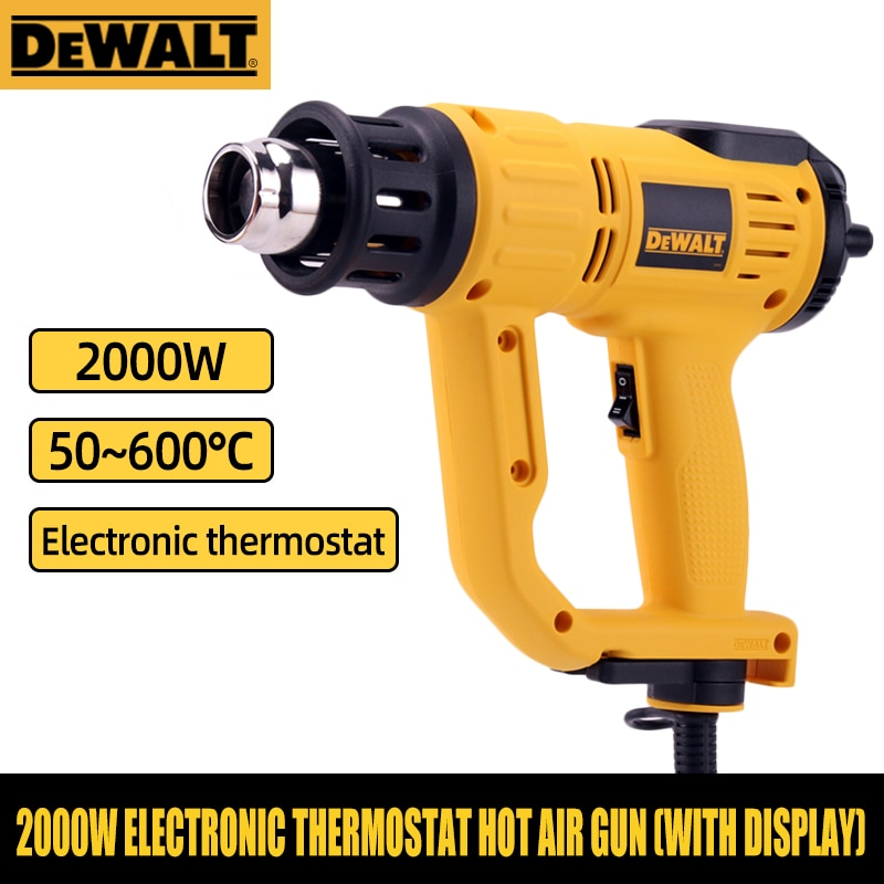 DEWALT-مسدس هواء ساخن D26414 D26411 ، شاشة رقمية ، شعلة لحام ، ترموستات ، اسطوانة هواء ساخن